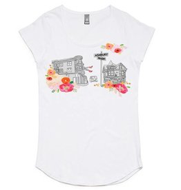 Haight Flower Tee, Women's White