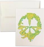 SF Peace, Letterpress Card, Yellow