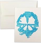 SF Peace, Letterpress Card, Teal
