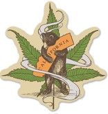 Cannabis Bear Sticker 4""