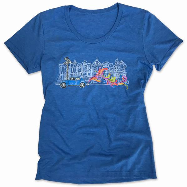 VW Bug Women's Tee, heather blue