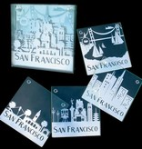 SF Skyline Mirrored Coasters