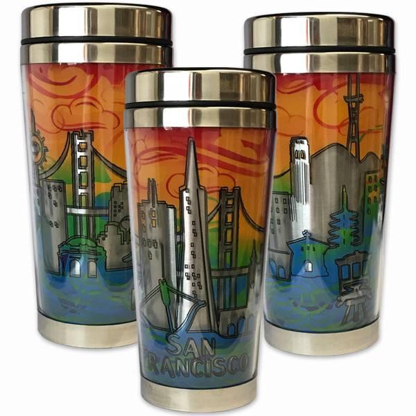 SF Skyline Stainless Steel Travel Mug
