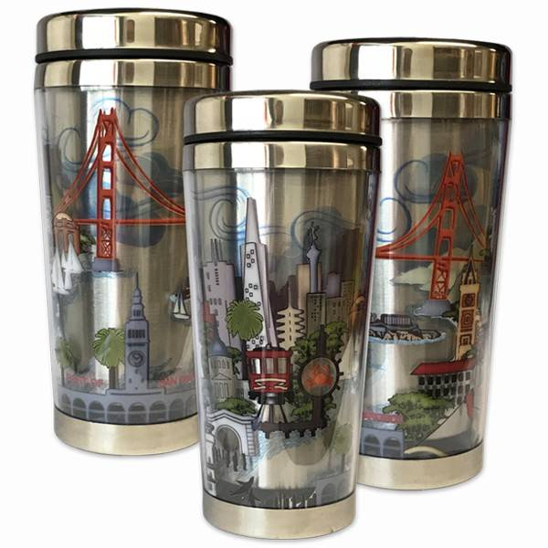 The City Stainless Steel Travel Mug