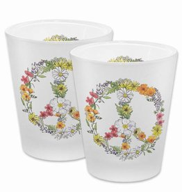 Floral Peace Frosted Shot Glass - Available approx. 7/15/18