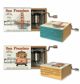 "SF Mercantile ""San Francisco"" Hurdy Gurdy (music box) - 2/asst"
