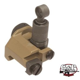 G&P G&P Military 600m Flip Up Rear Sight ( Sand )