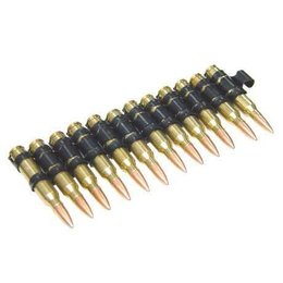 G&P G&P M249 Dummy 5.56 Cartridge Belt ( 10 Cartridges / Aluminum )