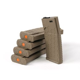 Hexmag HEXMAG 120rds Magazines for M4 AEG Series (5pcs / Pack) - FDE