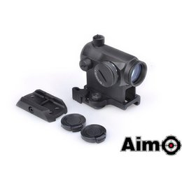 AIM Aim T1 Red/Green Dot with QD Mount & Low Mount BK