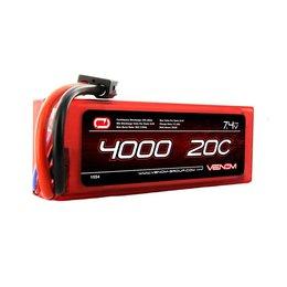 Venom Venom 20C 2S 4000mAh 7.4V Hard Case LiPo Battery with Universal Plug System