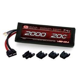 Venom Venom 20C 2S 2000mAh 7.4V LiPo Battery with Universal Plug System
