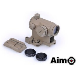 AIM Aim T1 Red/Green Dot with QD Mount & Low Mount DE