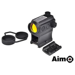 AIM AIM Solar Power Red Dot With Riser & Low Mount Blk