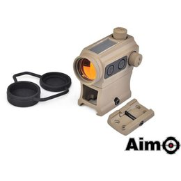 AIM AIM Solar Power Red Dot With Riser & Low Mount DE