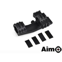 "AIM AIM Tri-Side Rail Extend 1"" Ring Mount Blk"