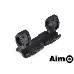 "AIM AIM Tactical 1"" & 30mm Ring Mount Blk"