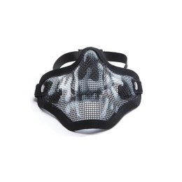 ASG ASG Blk Skull Mesh Lower Face Mask