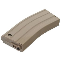 G&P G&P Tan 130 Rds M4 / M16 Metal AEG Magazine  (No Packing)