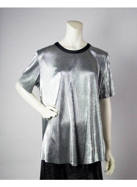 Alembika Metallic Silver Top