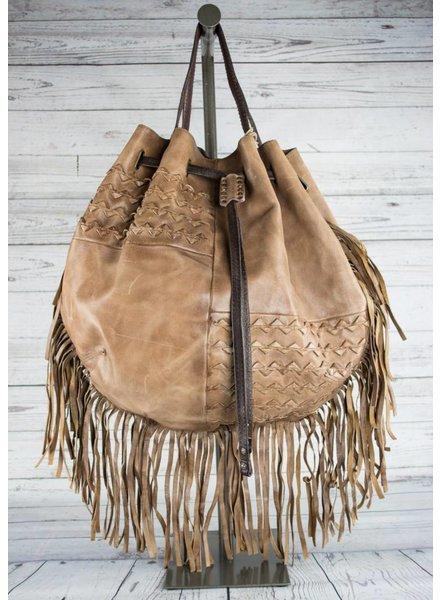 A.S. 98 Fringed Leather Handbag