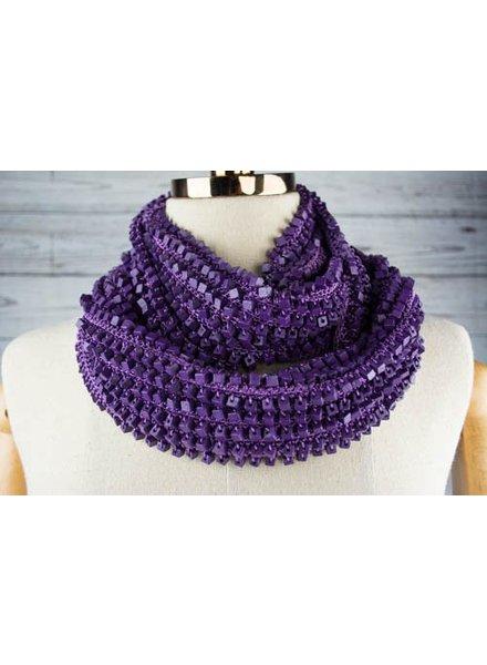 Jianhui London Wood Beaded Crochet Snood