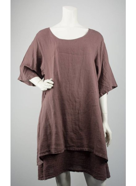 Grizas 2 Layered Linen Tunic