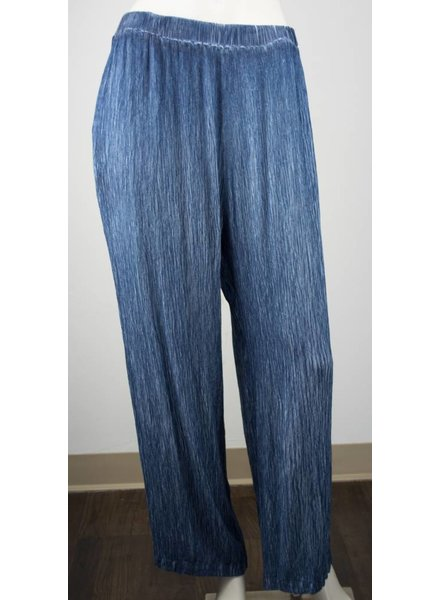 Grizas Silk Wide Leg Crinkle Pant