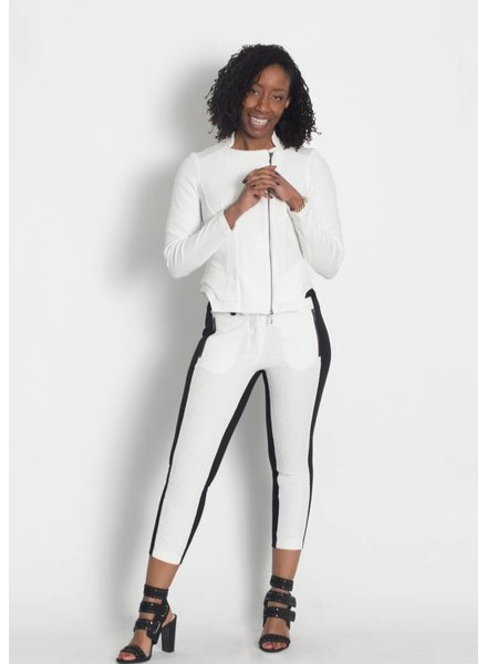 Elsewhere Textured Ivory Pant