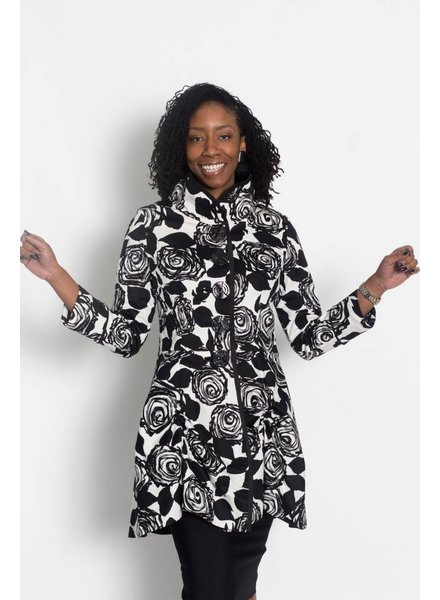 An Ren Black and White Reversible Coat