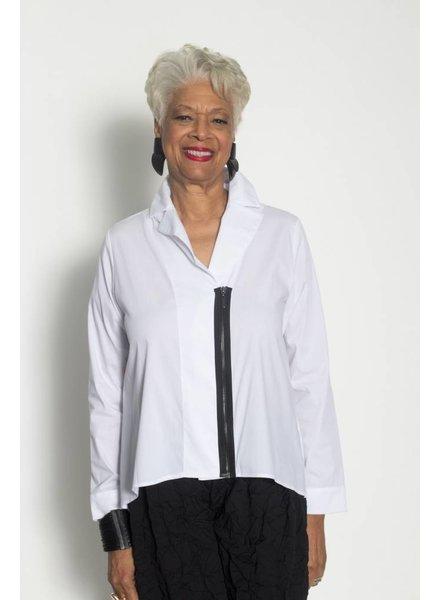 Comfy Zip Front  Shirt Plus