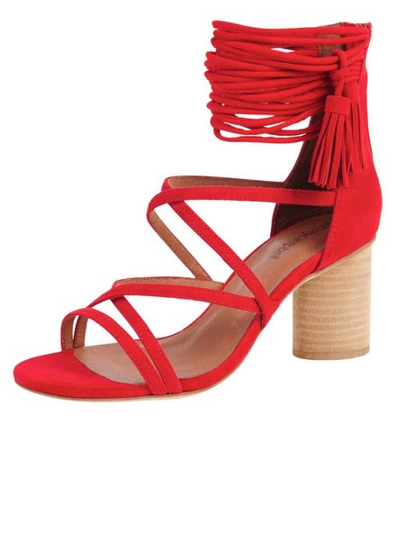Jeffrey Campbell Despina Strappy Suede Sandal