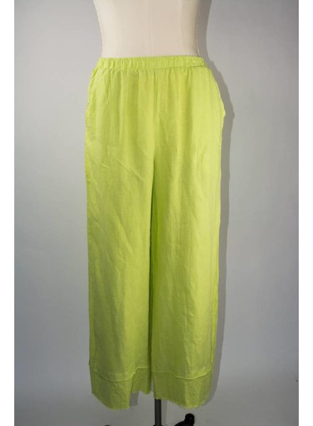 Match Point Raw Hem Linen Pant