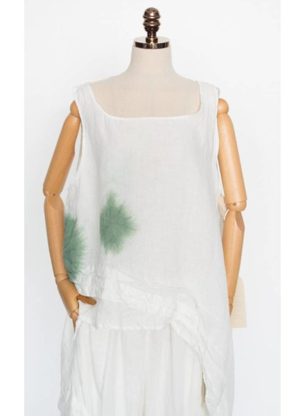 Krista Larson Basic Detail Tank Tie-Dye Jade Bubble