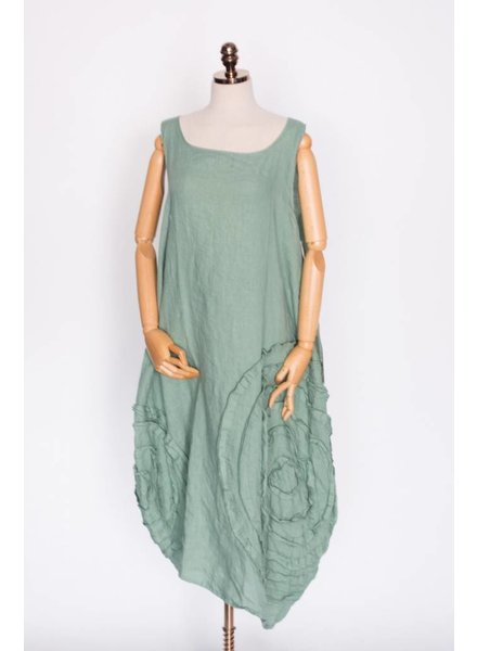 Krista Larson Long Cabbage Rose Slip Dress