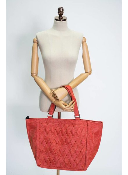 Helping Hands Persimmon Woven Tote