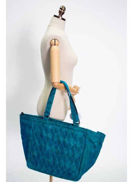 Helping Hands Teal Woven Tote
