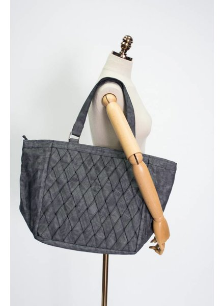 Helping Hands Charcoal Woven Tote