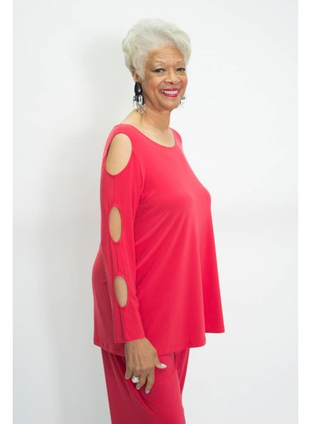 Comfy Cut-Out Sleeve Tunic Plus
