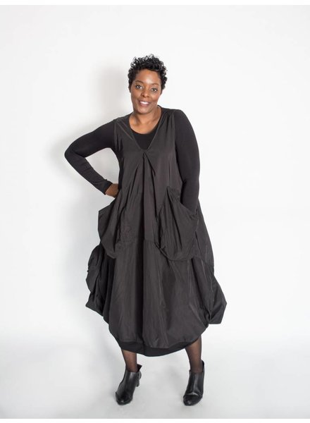 Transparente Oversized Pocket Dress