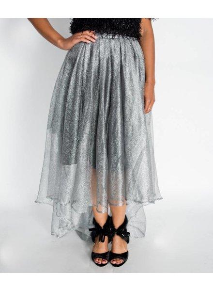 Gracia Shiny Mesh Skirt