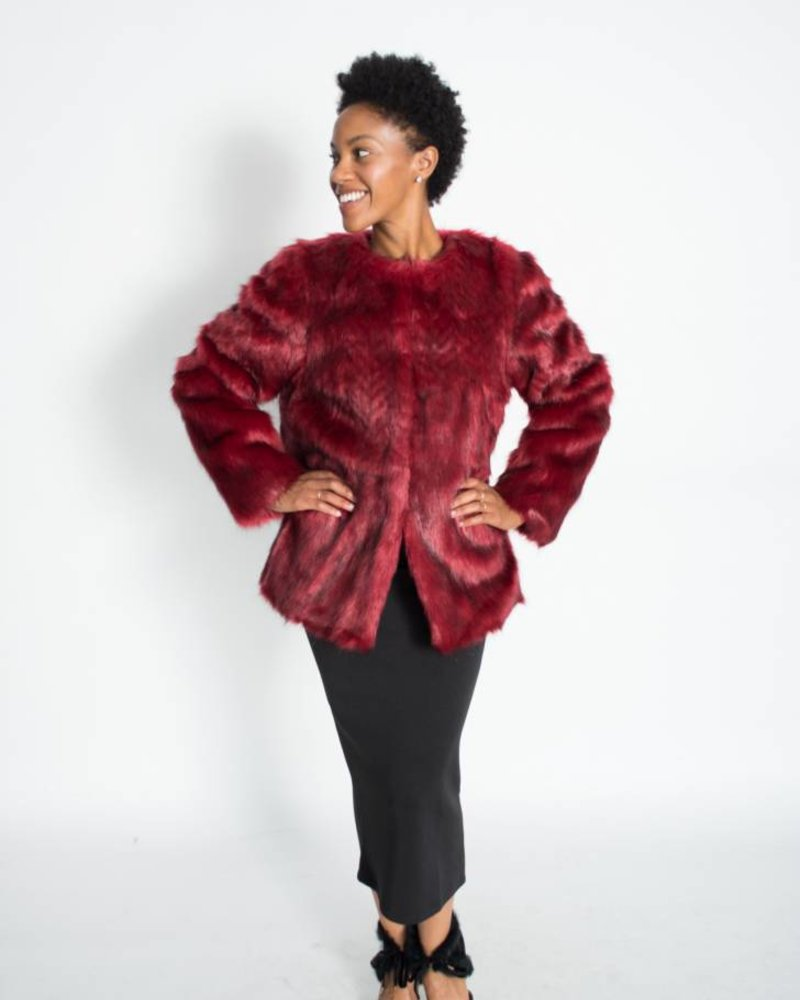 Lauren Vidal Lauren Vidal Riva Faux Fur Coat