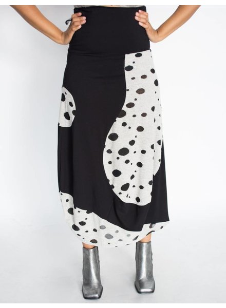Elsewhere Spotted Jersey Skirt