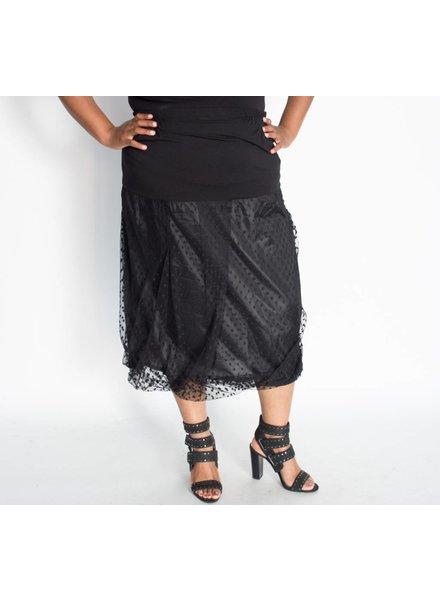Transparente Tulle Dot Skirt