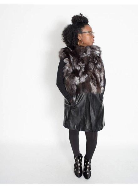 Mitchie's Leather Fox Vest