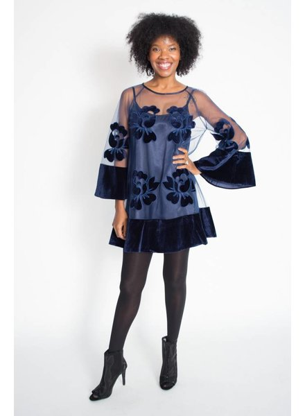 N by Nancy Sheer Flower Dress