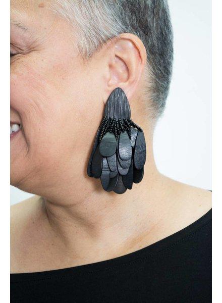 Monies Ebony/Bead Earring