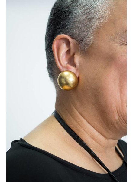 Monies Gold Foil Ball Earring