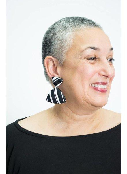 Monies Black/White Earring