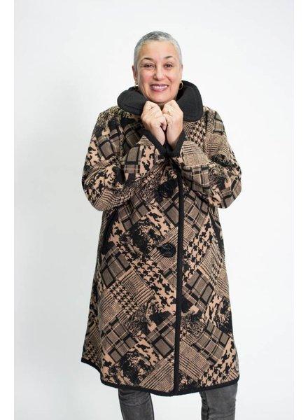 An Ren Mixed Print Coat